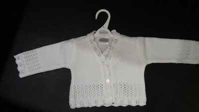 Off White Baby Special Occasion Cardigan NB 0-3m 3-6m 6-9m 9-12m 12-18m 18-24m