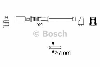 BOSCH Ignition Cable Kit 0 986 356 754