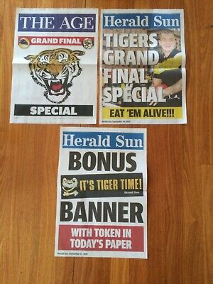 2017 Afl Grand Final Special Newstand Posters The Age / Herald Sun Richmond
