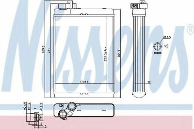 NISSENS Heat Exchanger, interior heating 70231