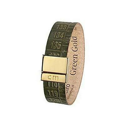 IL CENTIMETRO Bracciale donna green Gold C948S pelle made in Italy dorato small