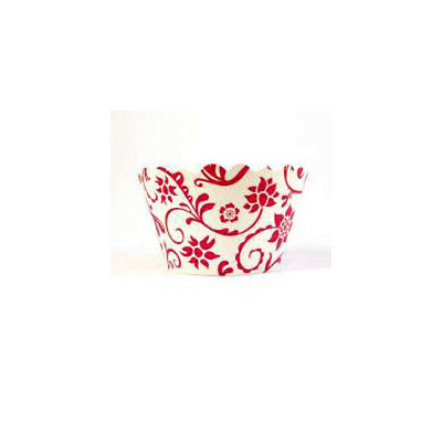Swift Hannah Red and White Cupcake Wrapper by Bella Cupcake Couture  Pack of 12