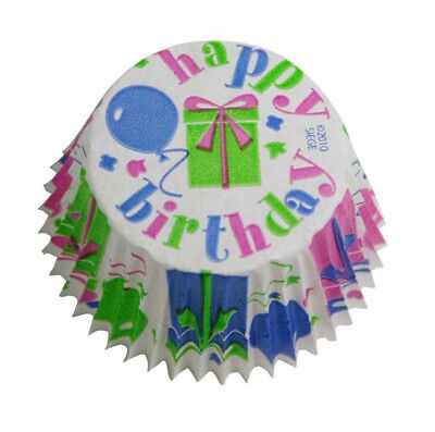 Cupcake Creations Happy Birthday Design Paper Cake Baking Cases Pack of 32