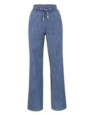 New Womens Slouch Jeans With Tie Waist