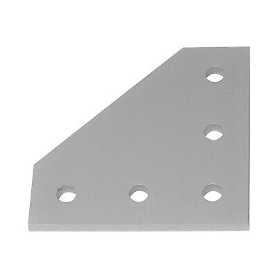 90 Degree Joining Plate, Aluminum, Bracket for 2020 T-Slot Extrusion Assembly