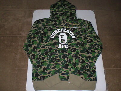 484270f65be7 Authentic APE BAPE x UNDEFEATED ABC CAMO COLLEGE PULLOVER HOODIE M L XL 2XL  NEW