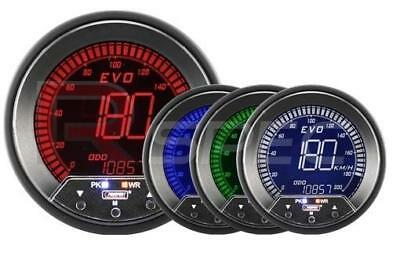 Prosport Evo 85mm LCD Speedometer 0-200 MPH / KPH 4 Colour with Peak and Warning