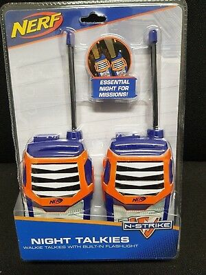 Original NERF N-Strike, Night Walkies, Walkie Talkie,Funkgerät Kinder, Hasbro
