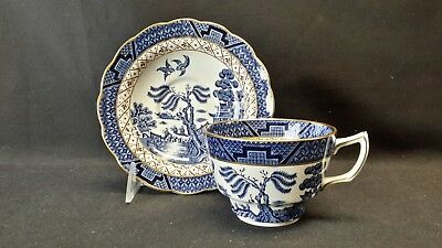 Booths England Real Old Willow A8025 Oversized One Point Cup & Saucer