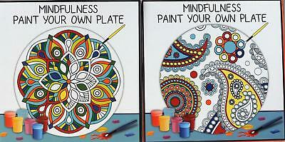 Mindfulness Paint Your Own Plate - Destress Adult Art Therapy