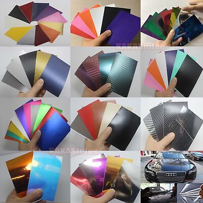 Testing Samples 3D 4D 5D Carbon Fiber Matte Chrome Mirror Vinyl Wrap Sticker CF