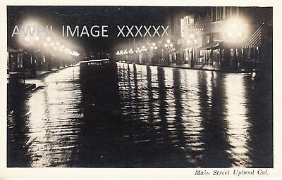 RPPC-Main Street At Night-Upland-Ca