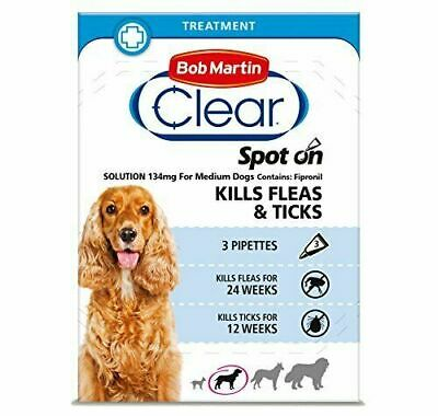 BOB MARTIN (Pestroy)SPOT ON Flea And Tick Treatment LARGE DOGS Over 15kg