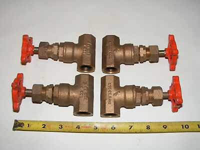 (1)each USA Stockham 1/2npt threaded Gate Valve Brass B110 1/2""