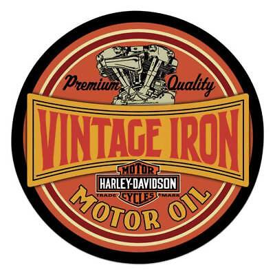 Harley-Davidson Vintage Iron Bar & Shield Embossed Tin Sign, 14 inch 2011491