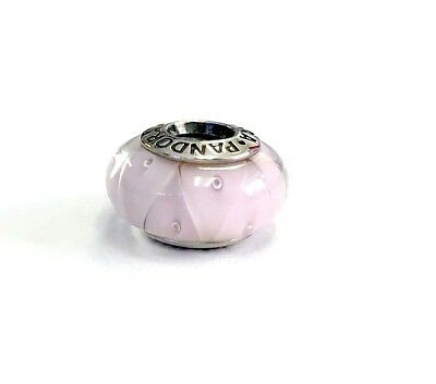 pandora ALE sterling silver.925 rose looking glass murano bead charm 790922