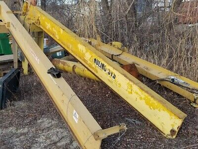 1 Ton Handling Systems Inc. Free Standing Jib Crane, 11' Hook Height, 190'' Arm