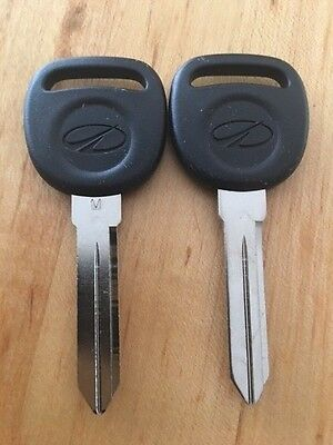 Genuine GM OEM 2852068 (2) NEW OLDS INTRIGUE Logo Key Blank 598033 Made in USA