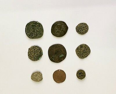 Lot Of 9 Byzantine And Medieval Bronze Coins
