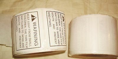 Suffocation Warning Labels 2 Rolls 500 + 480 980 Labels Peel & Stick Fba AS IS
