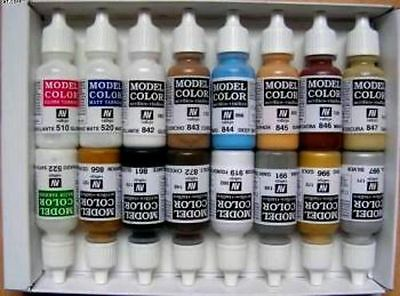 Model Color Set - Basic Colors USA (x16)- VAL70140