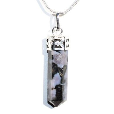 "CHARGED Faceted Mystic Indigo Gabbro Crystal Perfect Pendant™ + 20"" Chain"