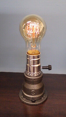 Industrial Style Vintage Retro Gas Pipe Desk Lamp with Victorian Bulb