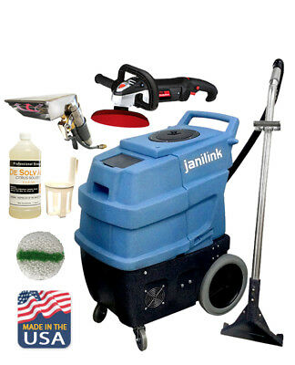 JL Premium II Heated 220 PSI Carpet Extractor  w/ Hose, Wands & JL Mini Blaster