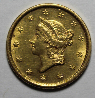 1854 $1 Gold Liberty Coin JJ47