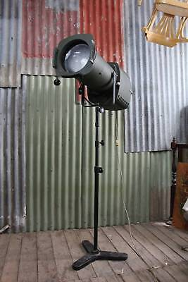 A Large Original Vintage 'English Made' Industrial Stage Light