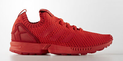 first rate c27d7 db8c8 shop new adidas zx flux primeknit triple red shoes mens 4fcd6 b05ff