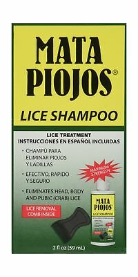 Mata Piojos A Pediculicide Low Foaming Shampoo 2 oz.