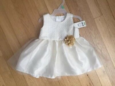 a3b041ca1 NWT George Baby Ivory White And Gold Holiday Baby Girl Dress 6-9 Months