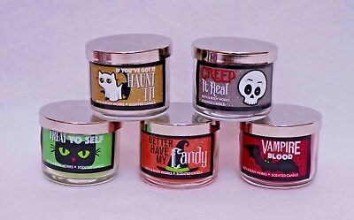 Bath Body Works Halloween Mini Candles 13 Oz Set Of 5 Different