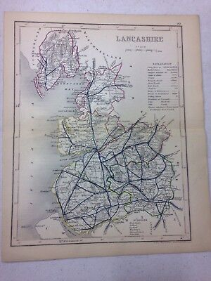 Map Of Political Subdivision Of Lancashire, 1875