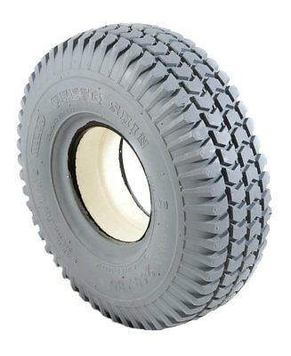 2 Grey Solid Block C248 Tread Mobility Scooter Tyres 260 x 85 3.00-4