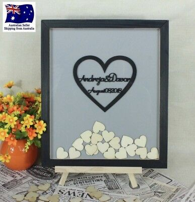 Personalised Customised Drop Box Guest Book Alternative 120 Hearts
