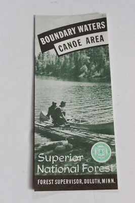 vtg 1962 boundary waters canoe area map brochure pamphlet us forest service