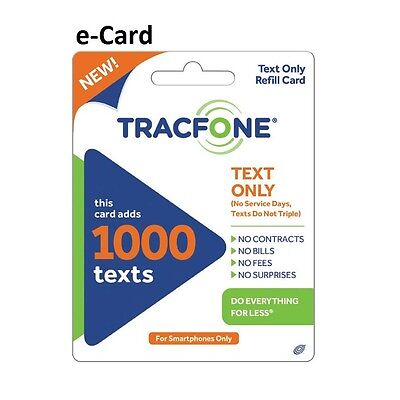 TracFone (Text Only) - 1,000 texts - text messages - Read description. 1000