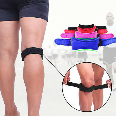 Adjustable Patella Tendon Strap Knee Support Brace Jumpers Runners Pain Band Hot