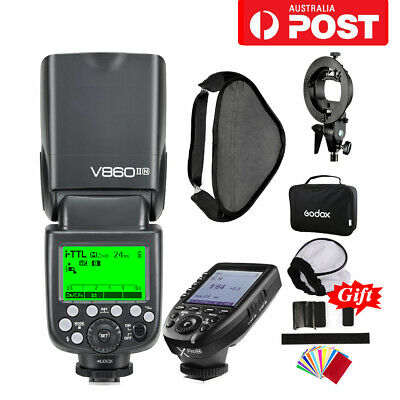 AU Godox V860II-N TTL 2.4G Speedlite + Xpro-N Trigger for Nikon + 80*80 Softbox