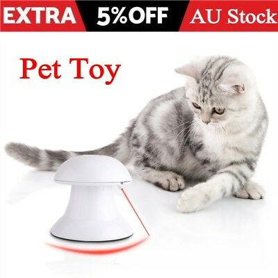 Pet Cat Dog Funny Auto 360° Interactive Dart Laser Light Exercise Teaser Toy New