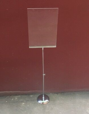 A4 Portrait Acrylic and Metal Sign Holder w/ Adjustable Stand