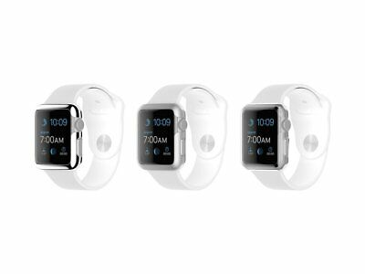 Griffin 3 Pack Ultra Thin Protective Cases Apple Watch 38mm, Silver, Grey, Clear