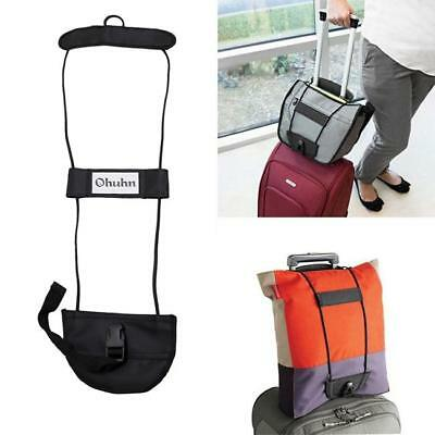 Add A Bag Carrier Strap Luggage Suitcase Adjustable Belt Carry On Bungee Travel