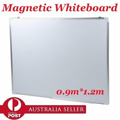 Magnetic WHITEBOARD Wall Mount 900mm x 1200mm Quality Home Office White board AU