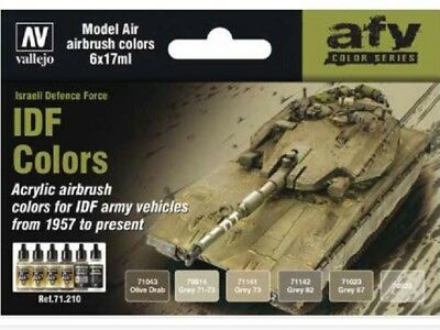 VAL71210 AV Vallejo Model Air Set IDF Army Colors 1957 Present AIRBRUSH PAINTS