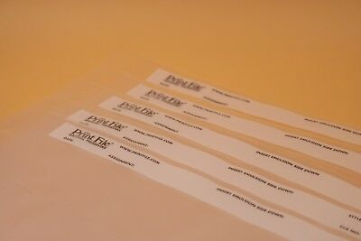 5Pcs Print File 35-7BXW 35mm 135 Film Negative Pages Sleeves Archival Preservers