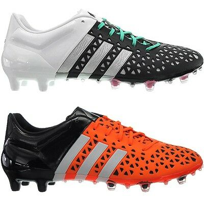 129d0f53bf503 ADIDAS ACE 15.1 men's soccer boots black or orange FG/AG studs cleats NEW