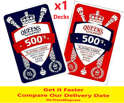 Queen's Slipper 500's Playing Cards Casino Quality 1 Deck & Points Game Rules